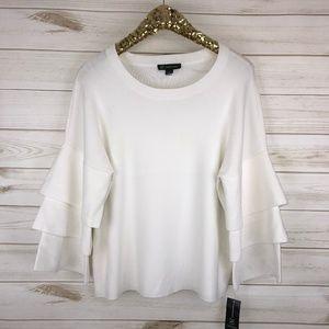 INC International Concepts Ruffled Sweater